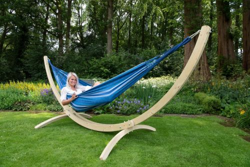 Wood & Chill Calm Double Hammock with Stand