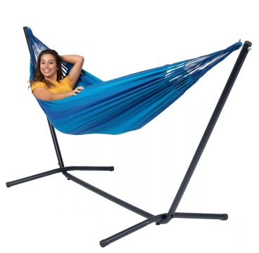 Easy & Dream Blue Single Hammock with Stand
