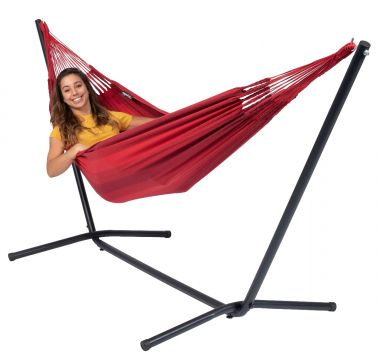Easy & Dream Red Single Hammock with Stand