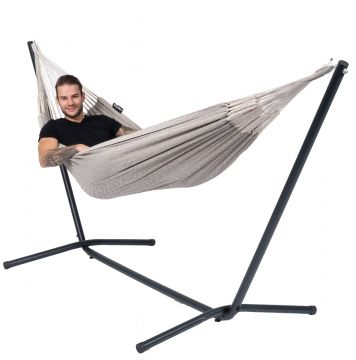 Easy & Natural Brown Single Hammock with Stand