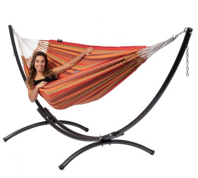 Arc & Premium Melon Double Hammock with Stand