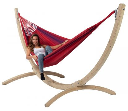 Wood & Refresh Bordeaux XXL Hammock with Stand