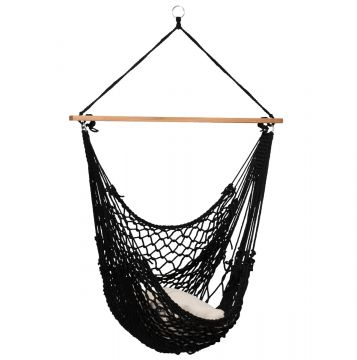 Rope Black Single Hanging Chair