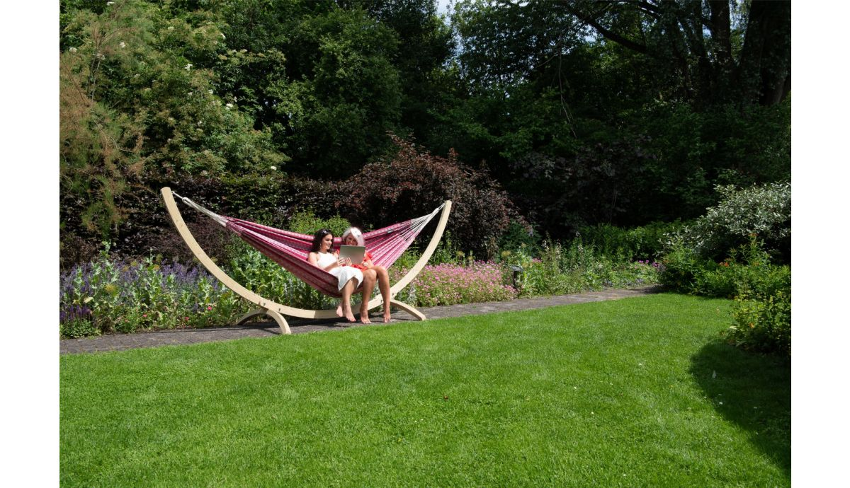 'Wood'  Double Hammock Stand