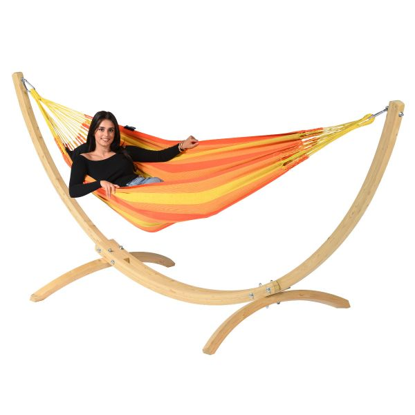 'Dream' Orange Single Hammock